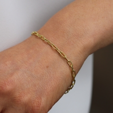 18k Gold Heavy Chain Bracelet Image
