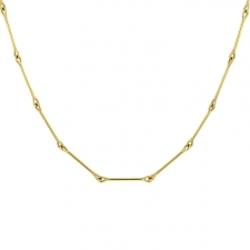 Needle Eye 18k Gold Chain Image