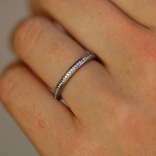 Diamond 18k White Gold Eternity Band Image