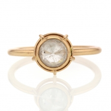Rose Cut Diamond Solitaire 18k Rose Gold Ring Image