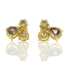 Triplet Diamond Stud Earrings Image