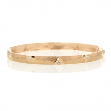 18k Rose Gold Dune Bangle Bracelet Image