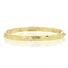 18k Yellow Gold Dune Bangle Bracelet Image