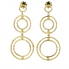 Bamboo 18k Gold Drop Earrings Image