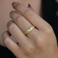 18k Yellow Gold Dune Band Image