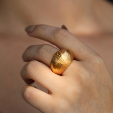 18k Rose Gold Domed Ring Image