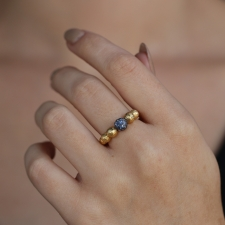 Sapphire 18k Gold Boules Ring Image