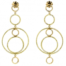 Bamboo Gold Hanging Earrings Image