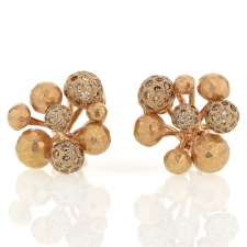 18k Rose Gold Diamond Fireworks Post Earrings Image