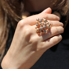 18k Rose Gold Fireworks Diamond Ring Image