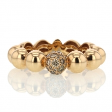 18k Rose Gold Diamond Boules Ring Image