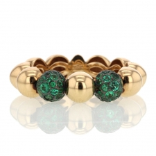 18k Rose Gold Boules Ring with Emeralds