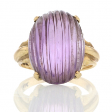 Vintage Carved Amethyst Ring Image