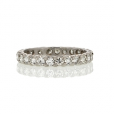 Vintage Platinum Diamond Eternity Band Image
