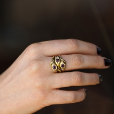 Vintage Triple Gold Snake Ring Image