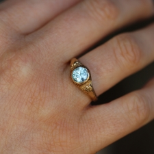 Vintage Blue Zircon Ring Image