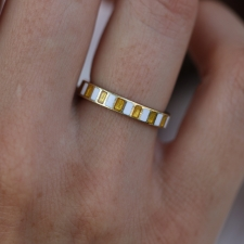 Vintage Enamel and 14k Gold Kenneth Jay Lane Ring Image