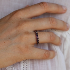 Amethyst Eternity Band Image