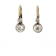Vintage Victorian Diamond Lever Back Earrings Image