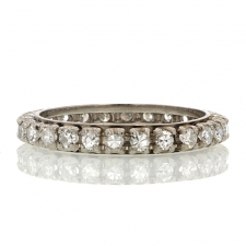 Vintage Diamond Platinum Eternity Band