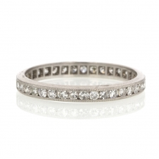Vintage Diamond Eternity Platinum Ring Band Image