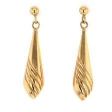 Vintage Italian 14k Gold Drop Earrings Image