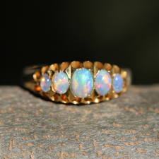 Antique Victorian 18k Gold and Opal Ring Image