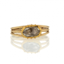 Vintage Gold Oval Rose Cut Diamond Ring Image