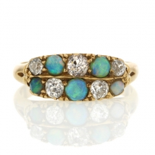 Antique Opal and Diamond Gold Ring Image