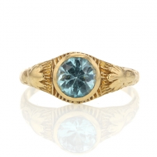 Vintage Blue Zircon Ring