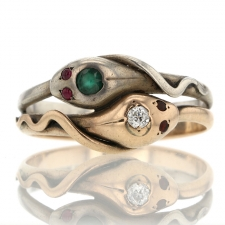Two Tone Snake Ring Image