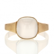 Vintage 10k Gold Moonstone Rose Gold Ring Image