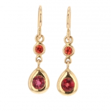 Orange Sapphire 18k Rose Gold Earrings Image