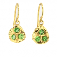 Green Garnet 18k Gold Earrings Image