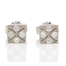 Platinum Diamond Studs Image