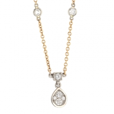 Platinum and 18k Rose Gold Diamond Necklace Image