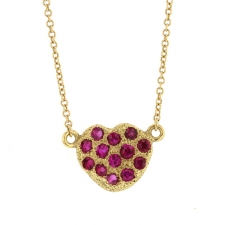 Ruby Heart Necklace Image