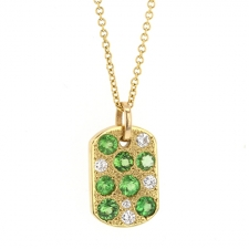 Green Garnet and Diamond Necklace