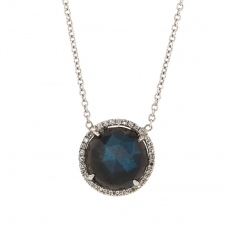 White Gold Labradorite Pave Necklace Image