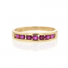 Vintage 14k Channel Set Ruby Ring Image