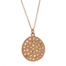 Rose Gold Mars Diamond Necklace