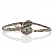 Aquamarine Orbit Rose Gold Bracelet Image