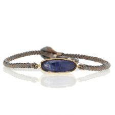 Tanzanite Icicle Gold and Siilver Silk Bracelet Image