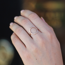 Rose Gold Circle 8 Diamond Ring Image