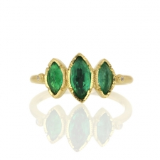Triple Marquise Emerald Ring Image