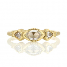 Triple Geo Diamond 18k Gold Ring Image