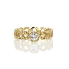 Diamond Gold Loop Ring Image