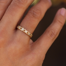 Unique Gold Diamond Band Image