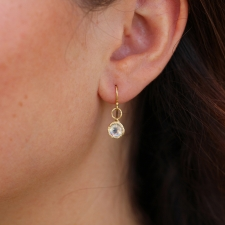 Rainbow Moonstone Round Lace Frame Earrings Image