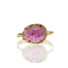 Gold Pink Sapphire Lace Ring Image